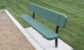 6 u0027 inground punched steel bench