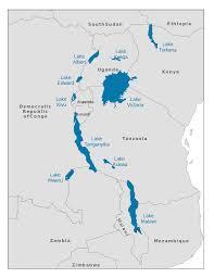 Lake Victoria Map A U2013 Albert Y U2013 Kyoga E U2013 Edward K U2013 Kivu V U2013 Victoria T