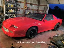Red Paint by 1986 Camaro Red Rustoleum Spray Paint Job Youtube