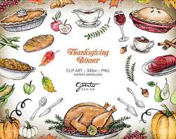 thanksgiving dinner etsy