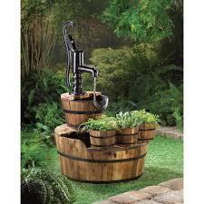 Wholesale Gifts And Home Decor Uk by Wholesale Pump And Barrel Garden Fountain Bucket Planters