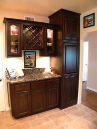built in wine rack and glass fronted cabinets to display your