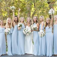 slate blue bridesmaid dresses all the lined up in show me your mumu steel blue bridesmaid