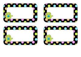 printable monster name tags free editable name tags monster and neon polka dot design tpt