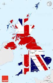 Single Flag Flag Simple Map Of United Kingdom Single Color Outside