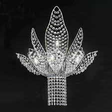 contemporary wall light metal murano glass swarovski