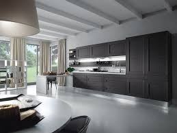 grey color contemporary l shaped gray kitchen cabinets as painted