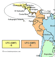 utc zone map panama zone panama current