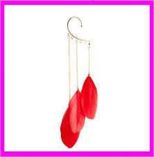 one side feather earring kd6516 fashion cheap one side feather earrings buy
