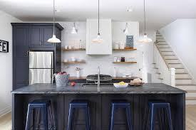 cottage kitchen islands navy kitchen island with navy tolix stools cottage kitchen
