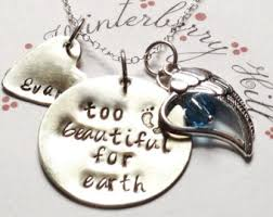 baby remembrance jewelry beautiful for earth baby memorial necklace baby remembrance