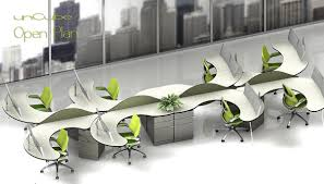 increase productivity through an open office floor planomnirax wedesk open plan six seats