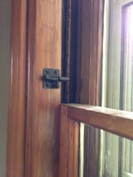 Double Hung Window Locks Ventilation On Our First Floor We Installed 2 Inch Door Latches On The Window