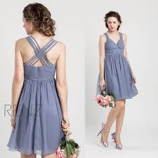 2015 slate blue bridesmaid dress blue grey wedding dress criss