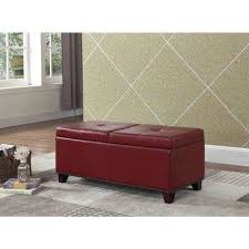 Red Bedroom Bench Red Bench Entryway Furniture Furniture The Home Depot