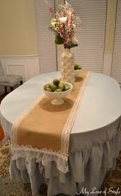 furniture diy lace table runners with white round table and