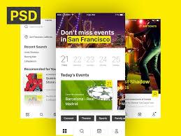 free ios event u0026 ticket sales mobile app template psddd co