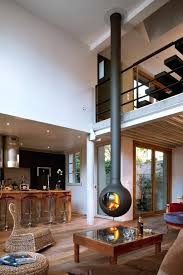 fireplace interesting modern hanging fireplace for living ideas