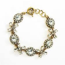 crystal link bracelet images Rhinestone flower bracelet cuff bracelet with clear glass crystals jpg
