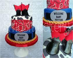 western cowboy themed baby shower cake celebration cakes
