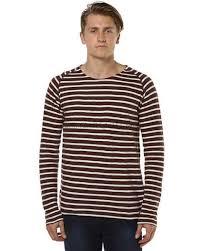 wine ls for sale nudie jeans co otto raglan striped mens ls tee wine tees