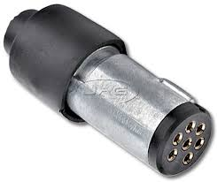 7 pin flat small round metal trailer connector plug