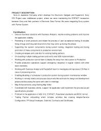 Sample Resume For System Analyst by Edi Resume Resume Cv Cover Letter