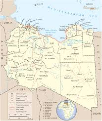 Map Of Mediterranean Sea Map Of Libya Tripoli Travel Africa