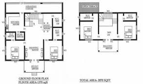 two house plan two floor house plan with three bed room kerala home design