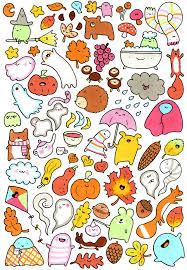 halloween menu background lots and lots of kawaii doodles 秋 drawing pinterest kawaii