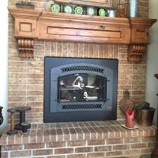 mantel rustic floating fireplace knotty alder wood hand hewn