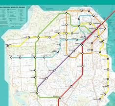 San Francisco Area Map by San Francisco Muni Train Map Michigan Map