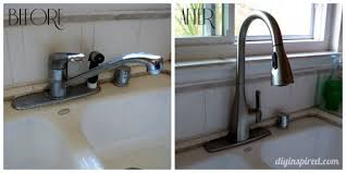 how to install a moen kitchen faucet moen how to install a kitchen faucet diy inspired