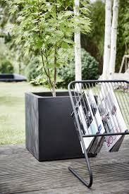 fit planter square black by capi lux modern design container