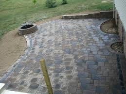 Unilock Patio Designs by Unilock Pavers Avante Ashlar With Cobble And Brussels Border Fire
