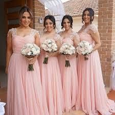 plus size blush wedding dresses 2017 new arabic chiffon pink blush bridesmaid dress plus