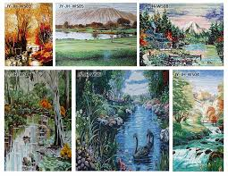 hfjy jh ss02 beautiful landscape picture glass tile mosaic mural