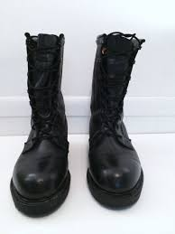 mens black biker style boots military combat boots mens 7w black cs 5 3 biker style steeltoe
