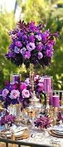 Purple Flowers Centerpieces by Butterfly Invitaions Purple And Blue Wedding Color Theme Blue