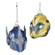 transformers bumblebee and optimus prime x ornament set kurt s
