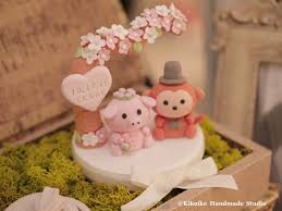 monkey and pig wedding cake topper