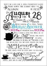 5 best images of mad hatter bridal shower invitations mad hatter