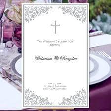 Catholic Mass Wedding Programs Catholic Church Wedding Program Order Of Service Templates