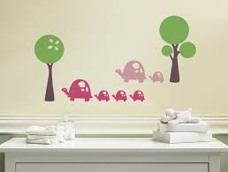 Turtle Nursery Decor Turtle Wall Decals From Weedecor Turtle Wall Stickers Turtle