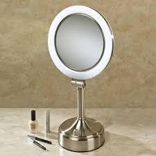 Light Up Vanity Table Bathroom Tabletop Vanity Table With Lights Around Mirror Best