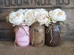 3 vases centerpieces sale 3 pint mason jars ball jars painted mason jars