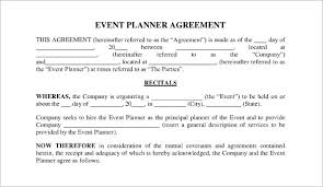 event planner contract exol gbabogados co