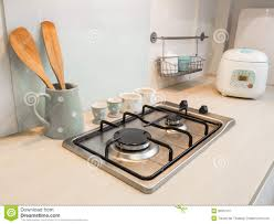 Kitchen Slab Kitchen Counter Of Stove Cooking Stock Image Image 35937411