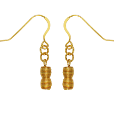 dangler earrings lecalla 22kt gold eight shape dangler earrings by