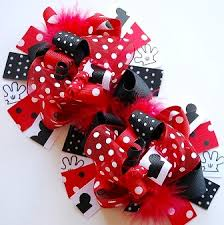 mickey mouse hair bow boutique infant hair bows headbands for baby